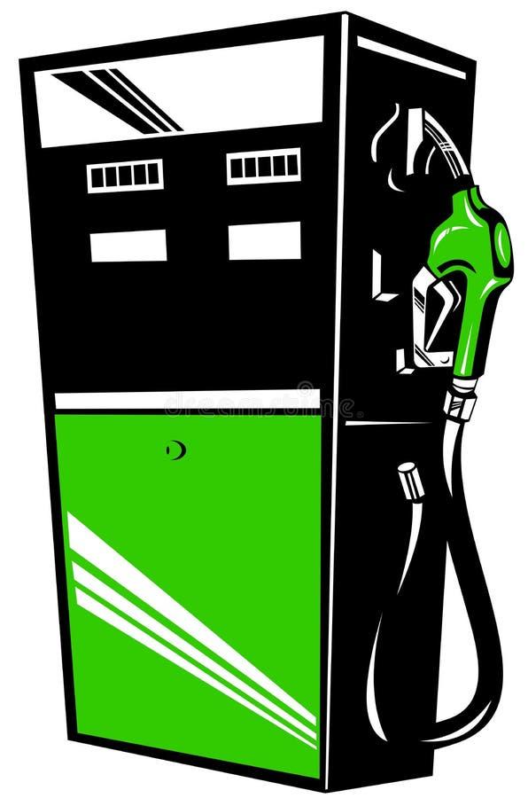 加油泵岗位 库存例证