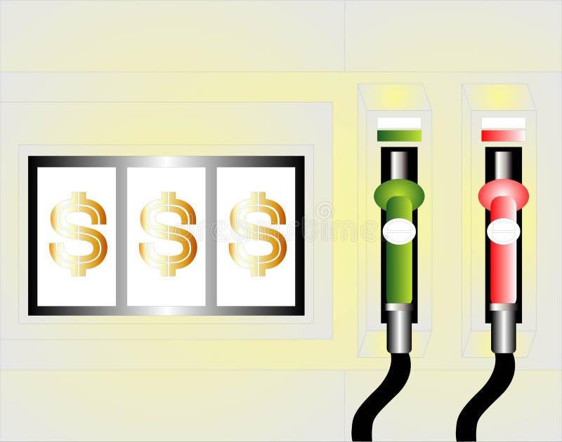 加油泵 向量例证