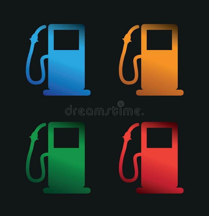 加油泵 库存例证