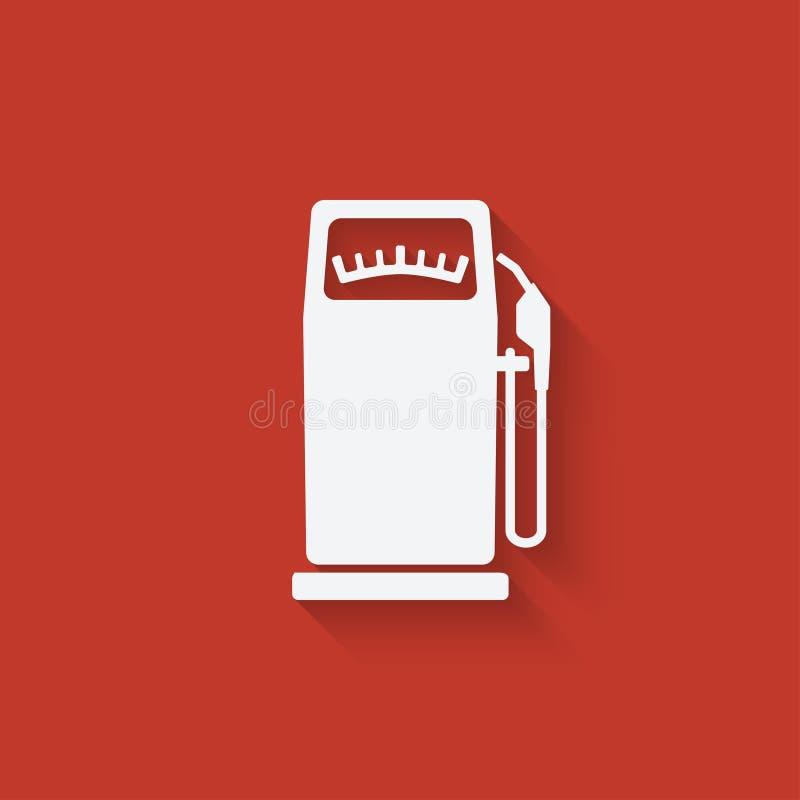 加油泵 皇族释放例证