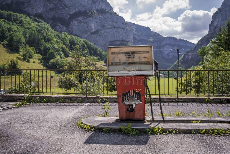 加油站在阿尔卑斯 图库摄影