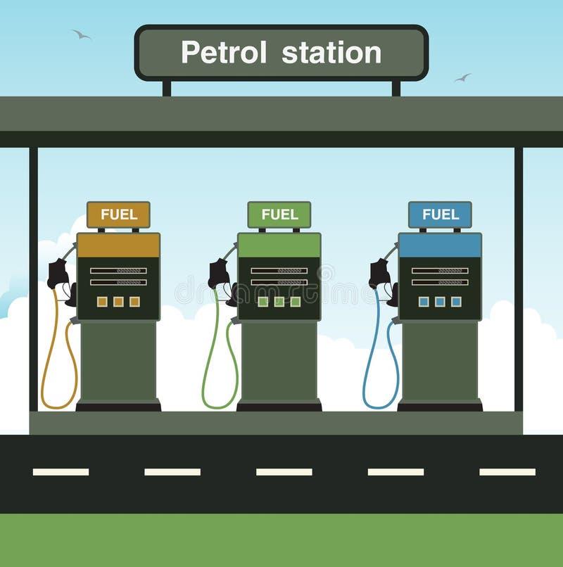 加油站 库存例证