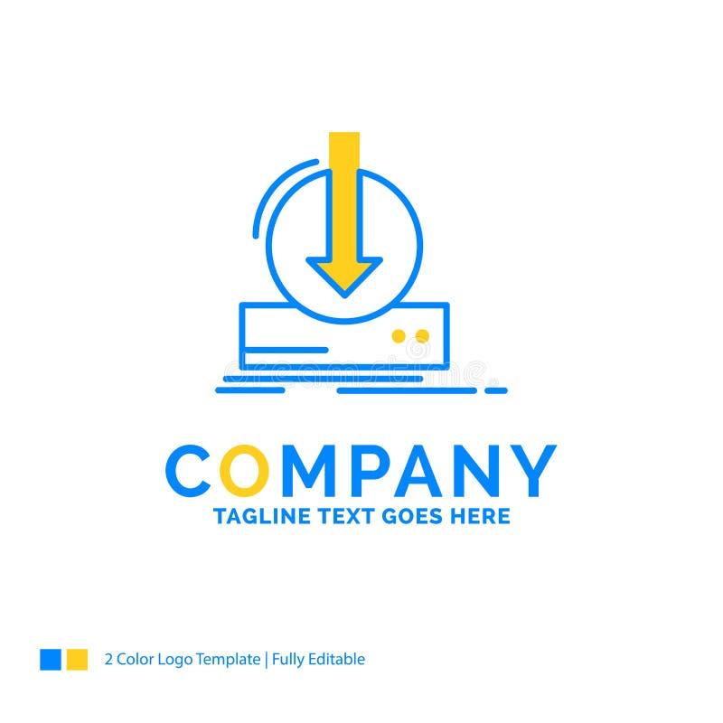加法,内容,dlc,下载,比赛蓝色黄色企业商标 库存例证