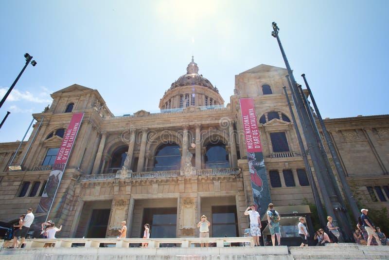 加泰罗尼亚国家博物馆MNAC在巴塞罗那 库存照片