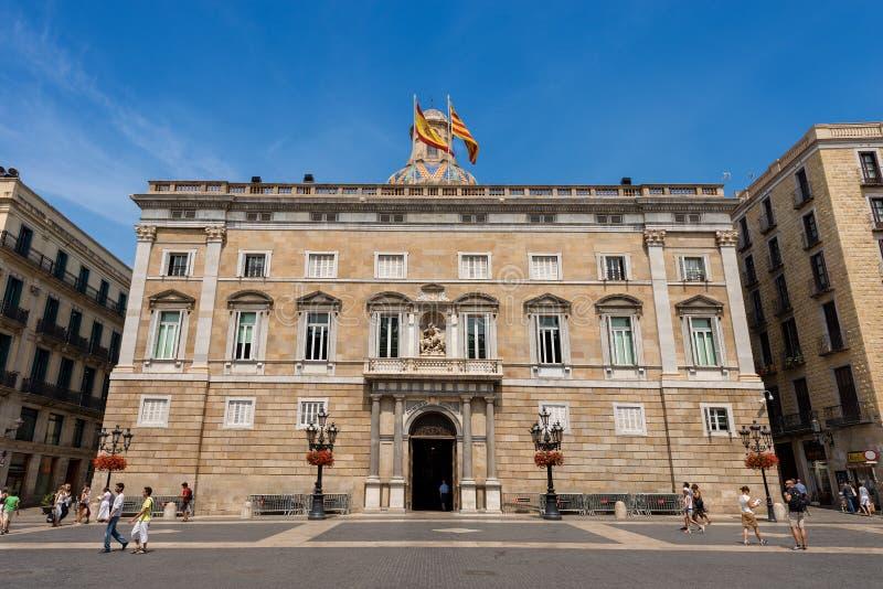 加泰罗尼亚政府宫-巴塞罗那西班牙 免版税图库摄影