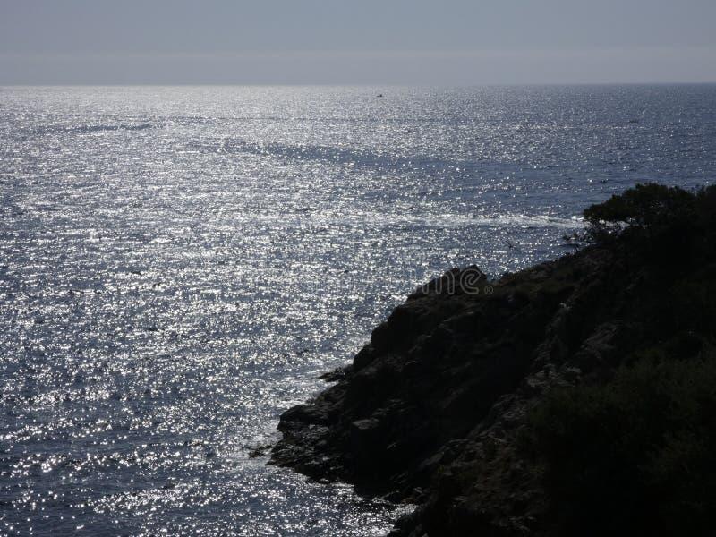 加泰罗尼亚的布拉瓦海岸的风景 免版税库存照片