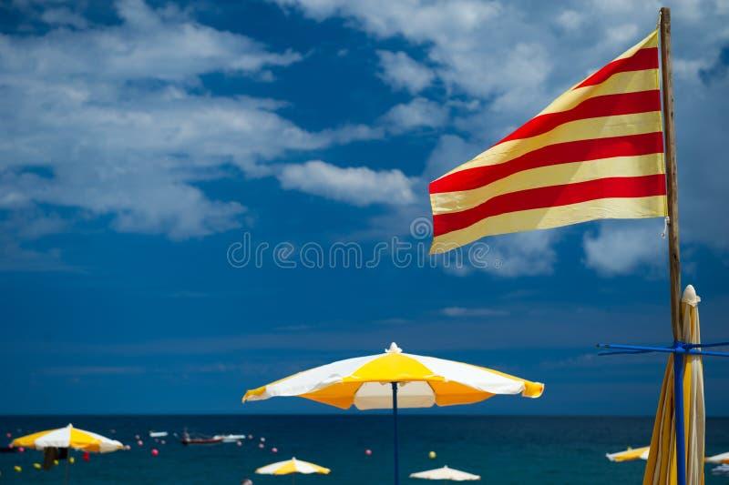 加泰罗尼亚的海滩 库存照片