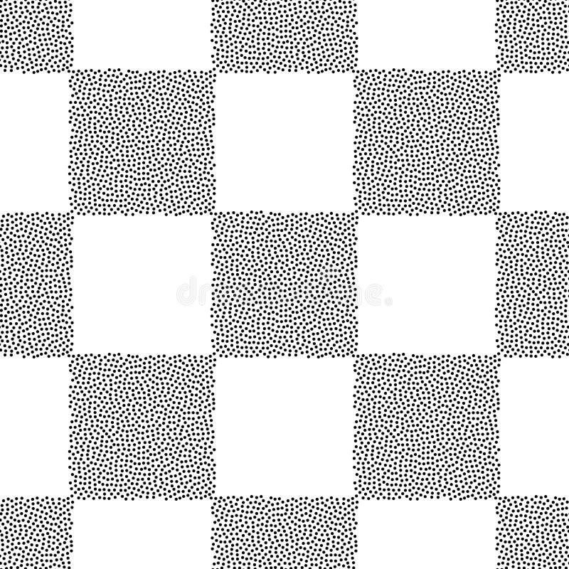 加点棋盘传染媒介无缝的样式 表面设计的,纺织品抽象几何被加点的纹理,包裹 库存例证