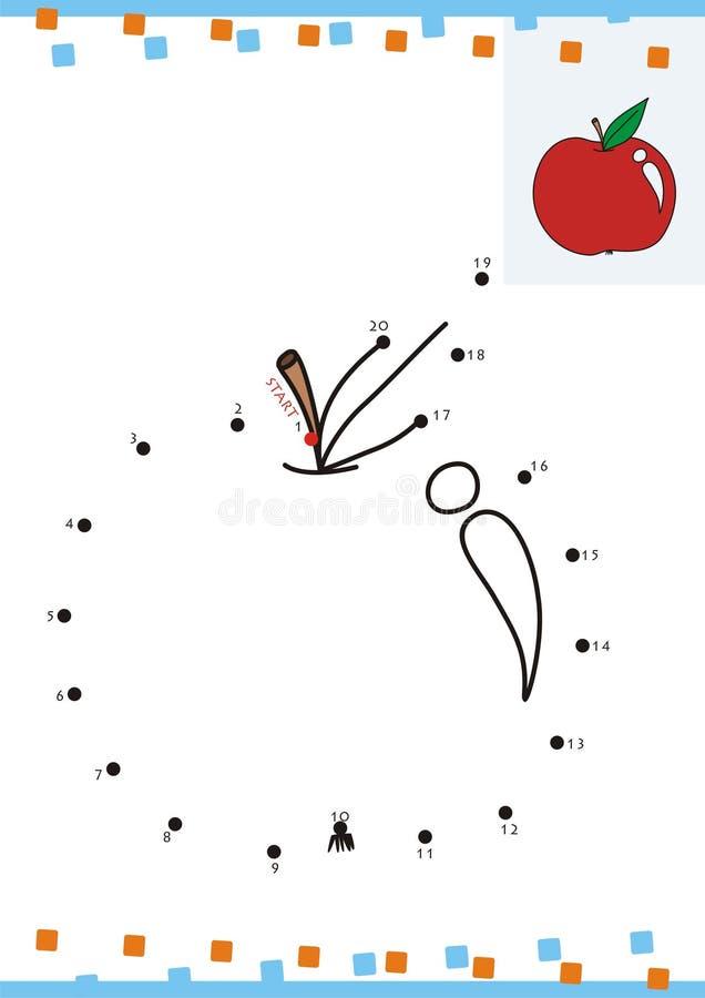 加点的彩图小点。苹果 皇族释放例证