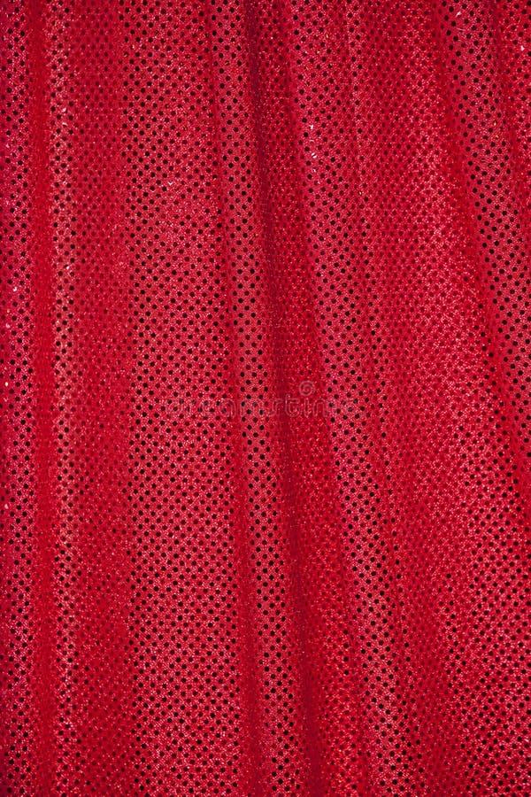 加点织品红色 免版税库存照片