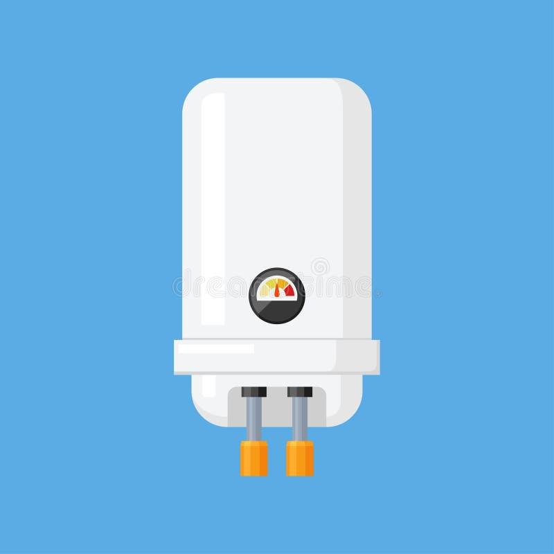 水加热器在一个平的样式的传染媒介例证 皇族释放例证