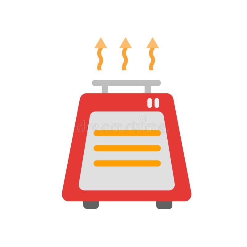 加热器在白色背景隔绝的象传染媒介,加热器标志,天气符号 库存例证
