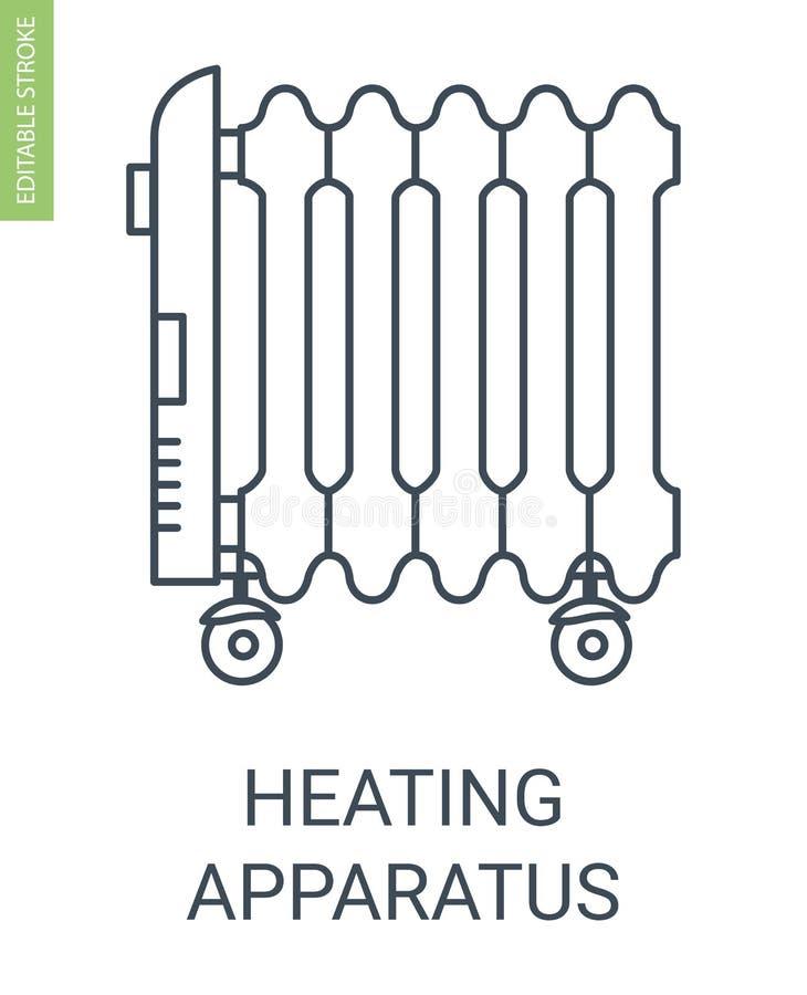 加热器象 向量例证