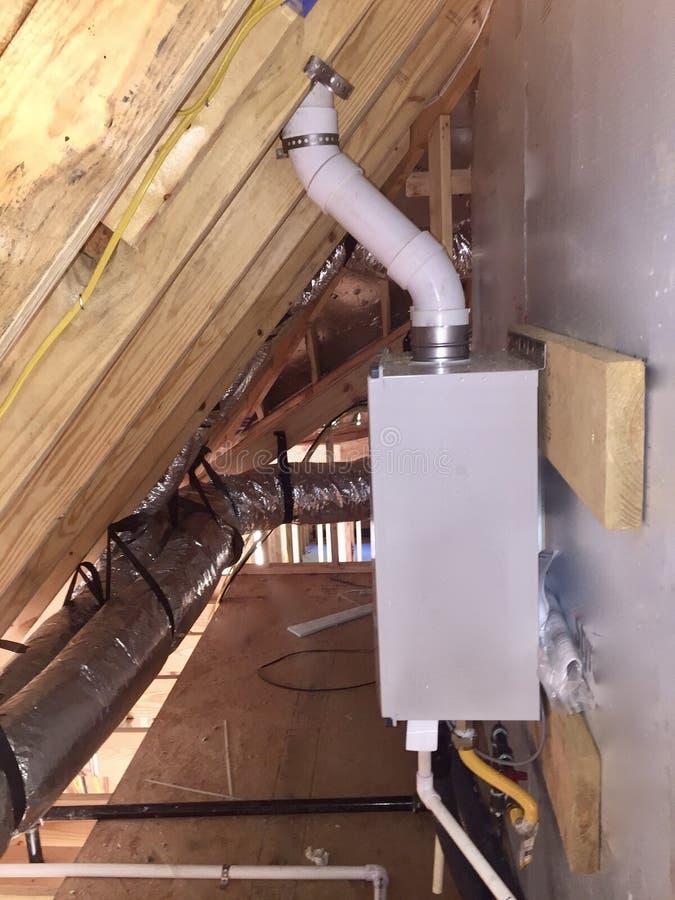 加热器tankless水 库存图片