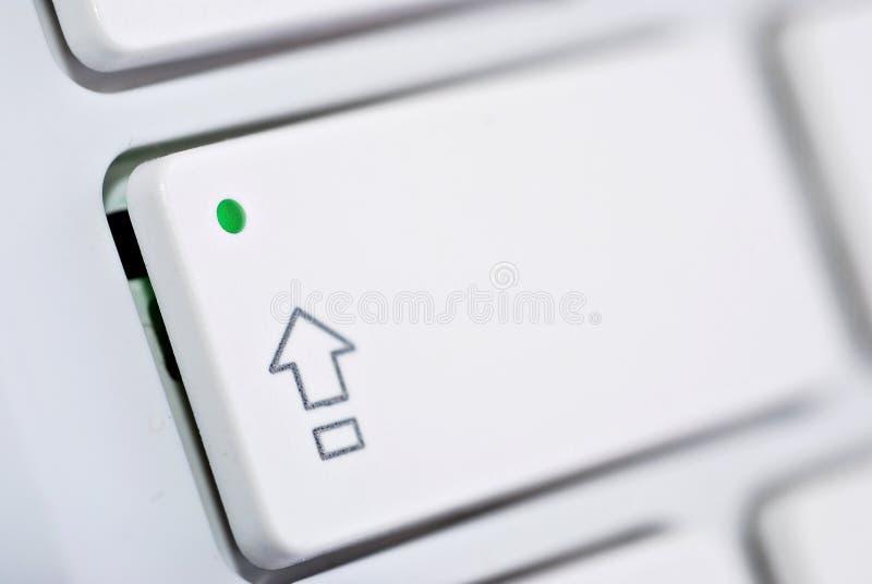 加盖计算机键盘白色 库存图片