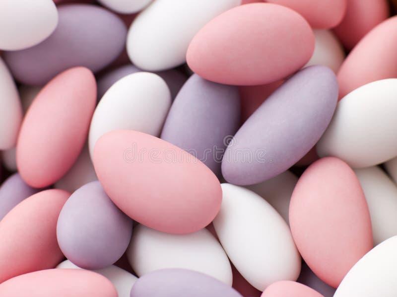 加糖的杏仁 库存照片