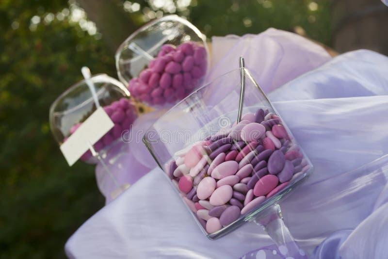 加糖的杏仁 图库摄影