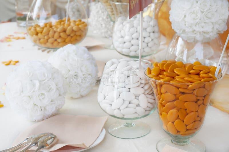 加糖的杏仁 免版税库存照片