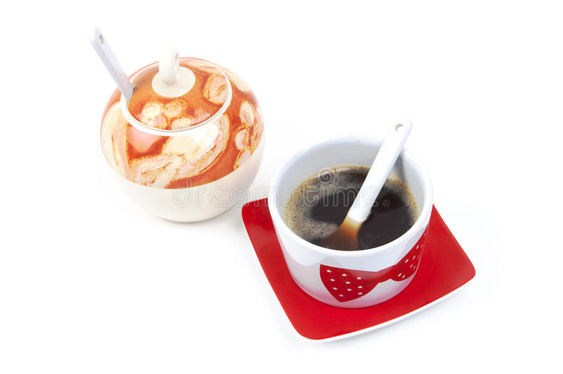 加糖Coffe 库存照片