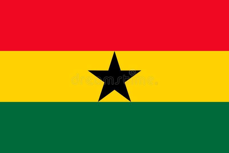 加纳国旗 r 阿克拉 向量例证