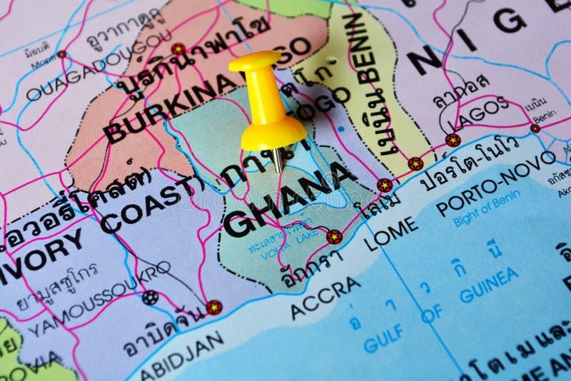 加纳地图 免版税库存图片