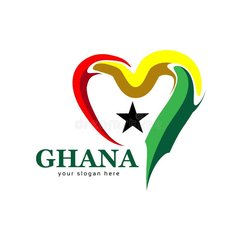 加纳旗子心脏储蓄传染媒介 背景例证鲨鱼向量白色 向量例证
