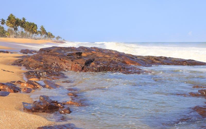 加纳海岸线 库存照片