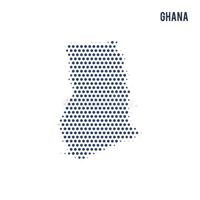 加纳的被加点的地图在白色背景隔绝了 皇族释放例证