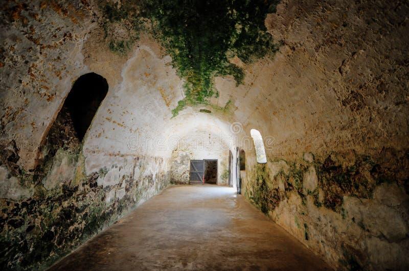 加纳:Elmina城堡世界遗产名录站点,奴隶制的历史 免版税库存照片