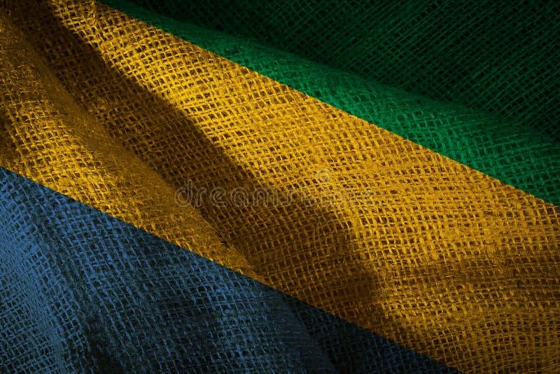 加蓬国旗 免版税图库摄影