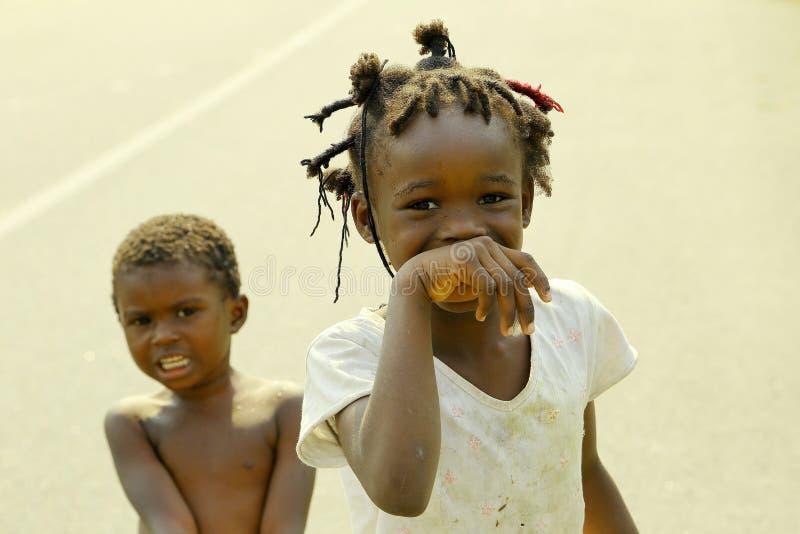 加蓬孩子 免版税库存照片