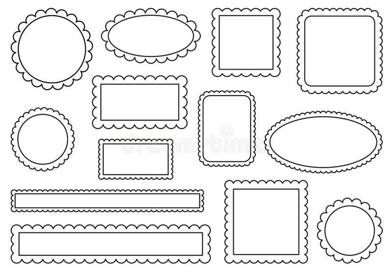 加调料烘烤的框架 库存例证
