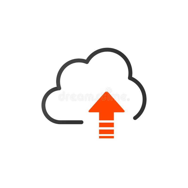 加载传染媒介象,云彩存贮标志 网站的现代,简单的平的象或流动应用程序 被隔绝的传染媒介例证  库存例证