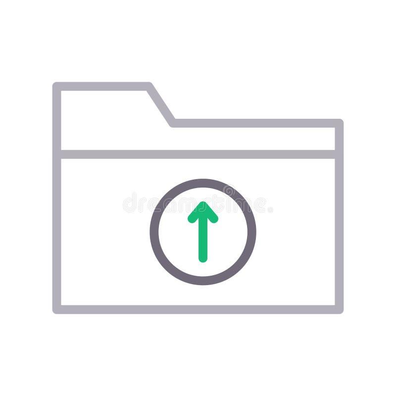 加载文件夹稀薄的颜色lline传染媒介象 向量例证