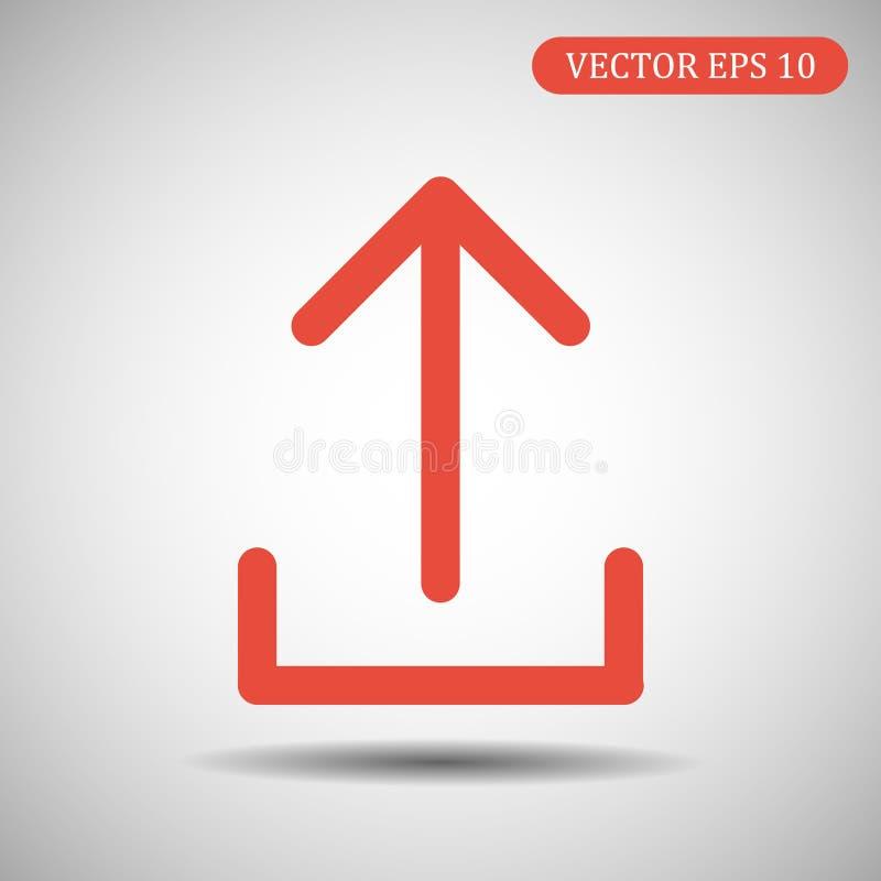 加载象红颜色 10 eps例证盾向量 向量例证