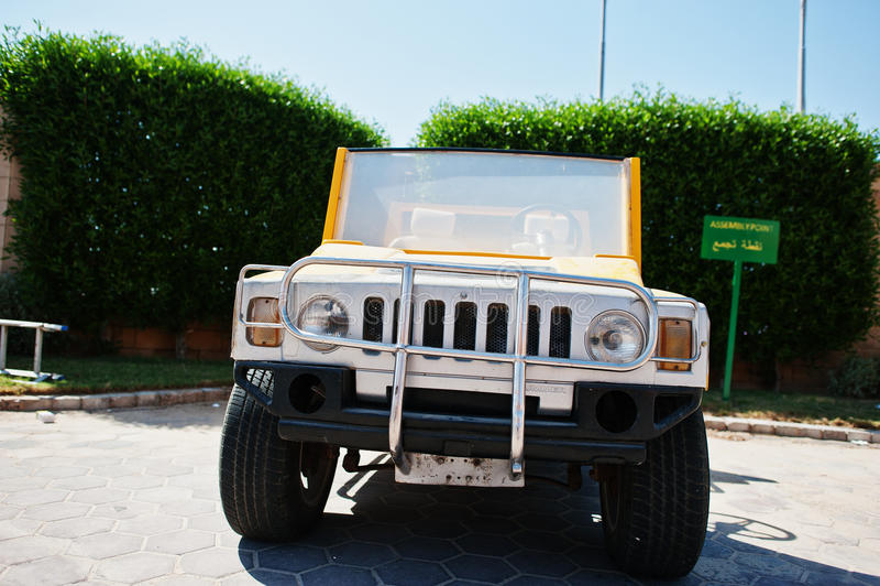 洪加达,埃及2016年8月-20 :发嗡嗡声的东西H2汽车加州的小拷贝 库存图片