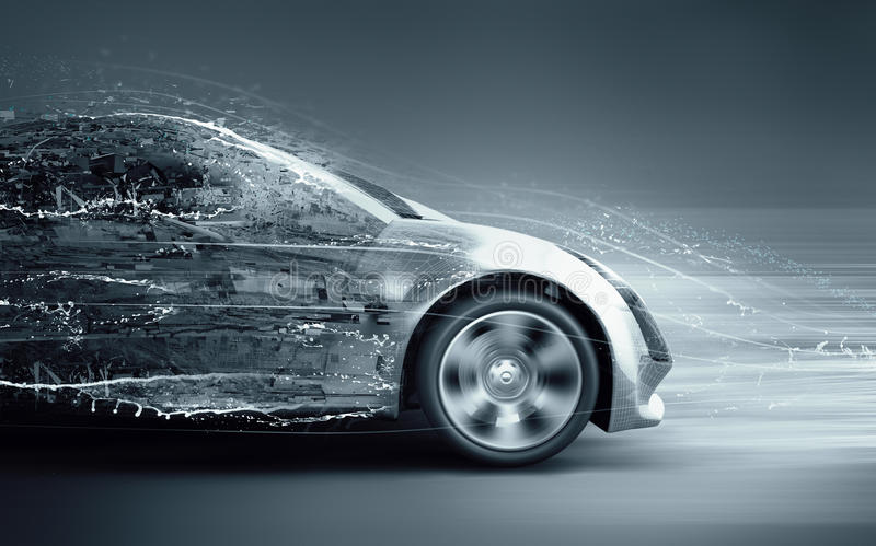 加速的抽象汽车 库存例证