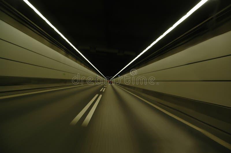 加速的隧道 库存图片