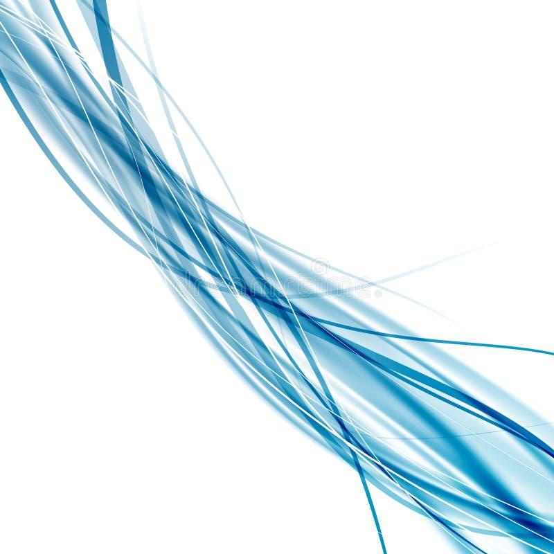 加速软绵绵地光滑的抽象蓝色迅速波浪背景 向量例证