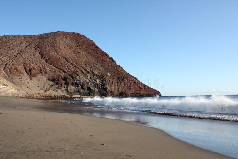 加那利群岛山红色 免版税库存照片