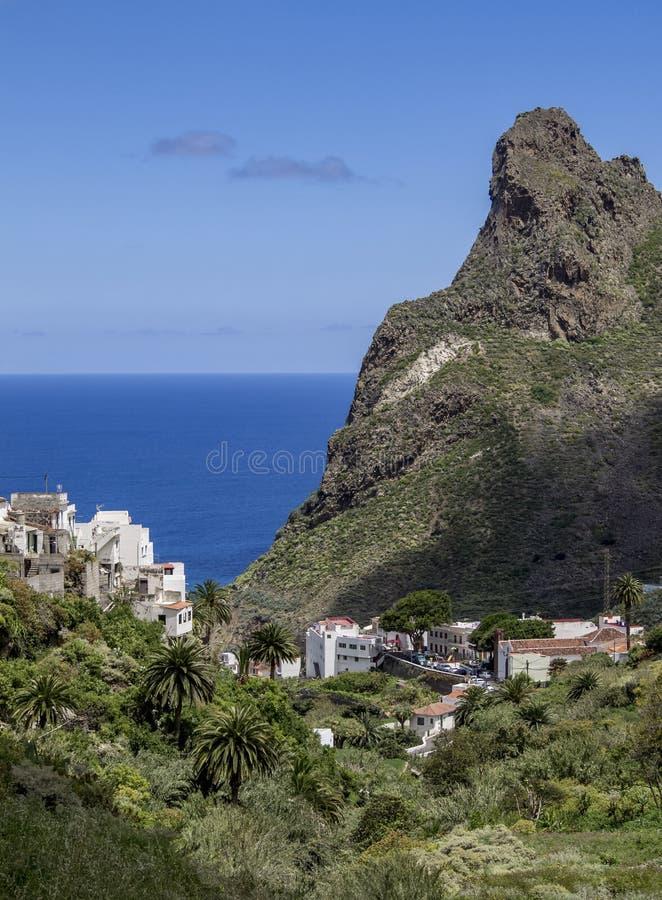 加那利群岛特内里费岛的阿纳加景观。西班牙加那利群岛特内里费岛阿纳加乡村公园Roques de Anaga景è 免版税库存照片