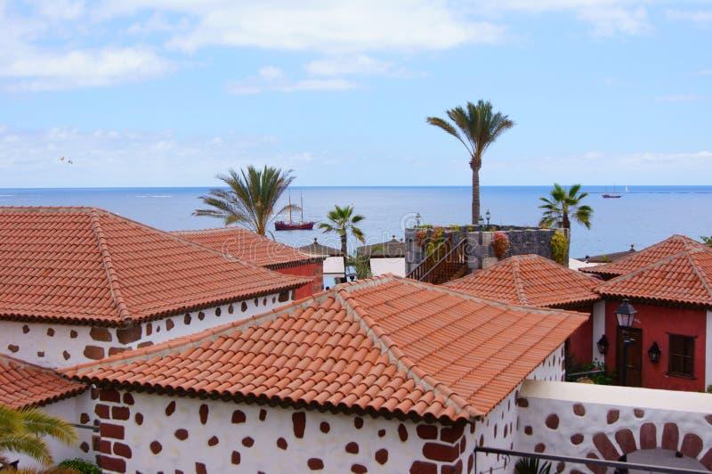 加那利群岛的传统房子 库存照片