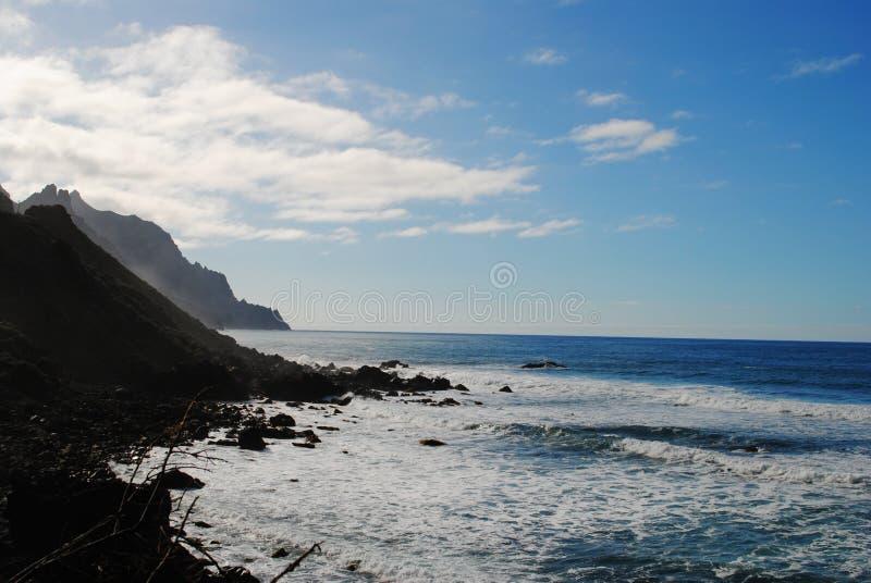 加那利群岛,特内里费岛, Taganana 图库摄影