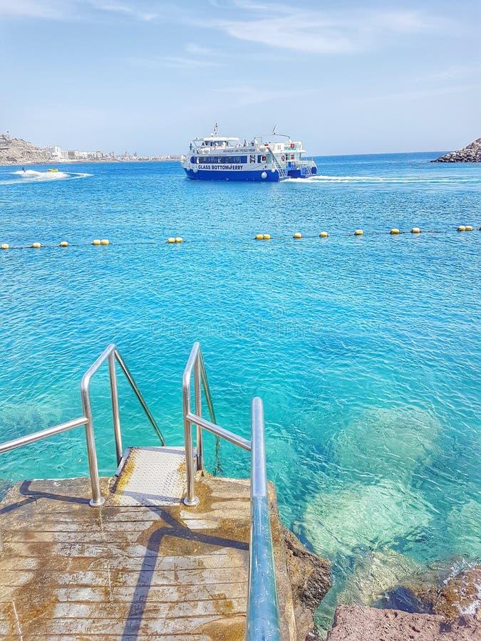 加那利群岛,自然风景,海滩 库存照片