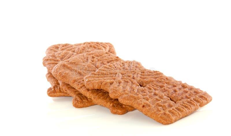 加香料的曲奇饼荷兰语speculaas 免版税库存图片