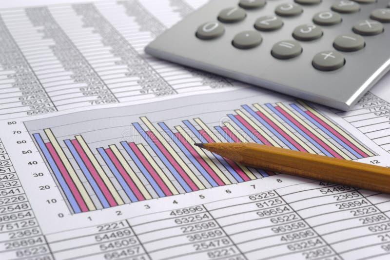 财务业务计算 库存照片