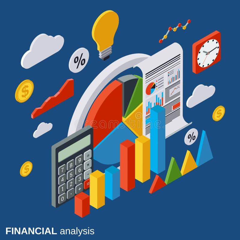 财务分析,业务报告,现代infographic,市场statictics传染媒介概念 向量例证
