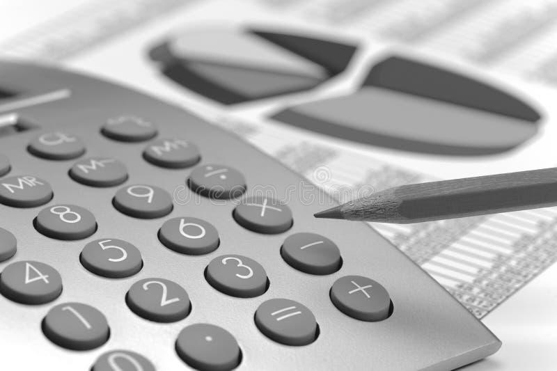 财务和演算在股市上 免版税库存照片