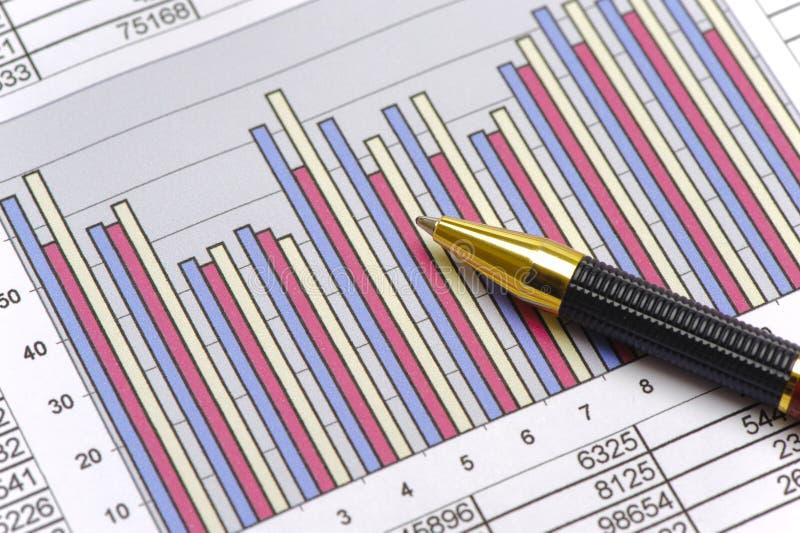 财务和股市与图 免版税库存图片