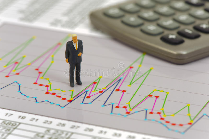 财务和股市与图 库存图片